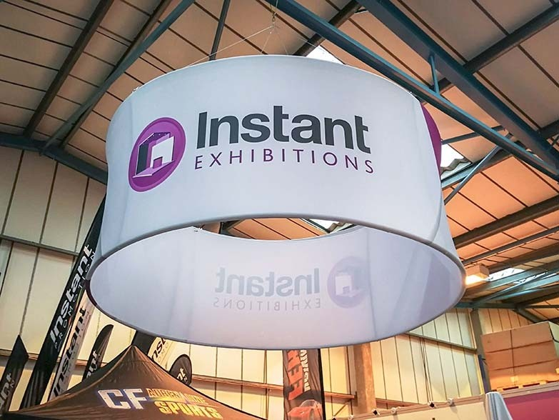 IP 8ft circular hanging banner