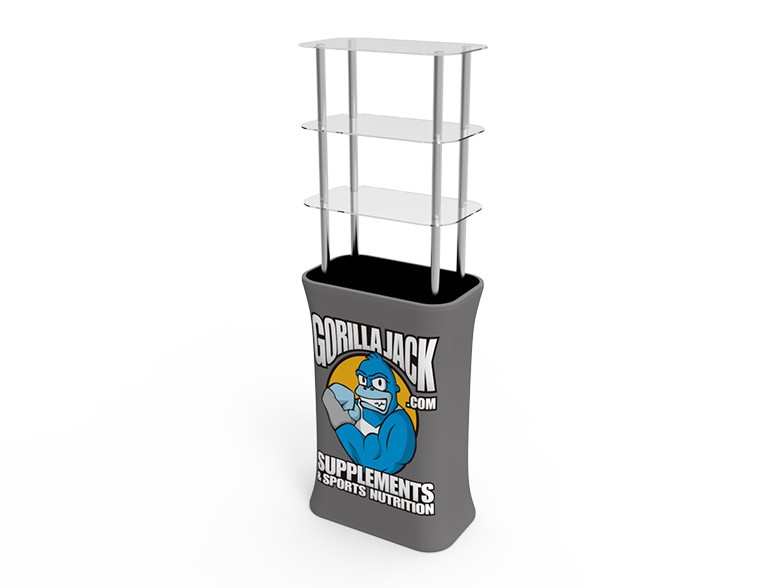 Rectangular Stretch Fabric Display Tower