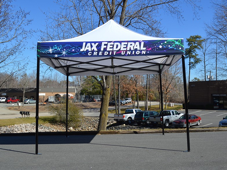 Jax Federal Valance Wrap with White Canopy