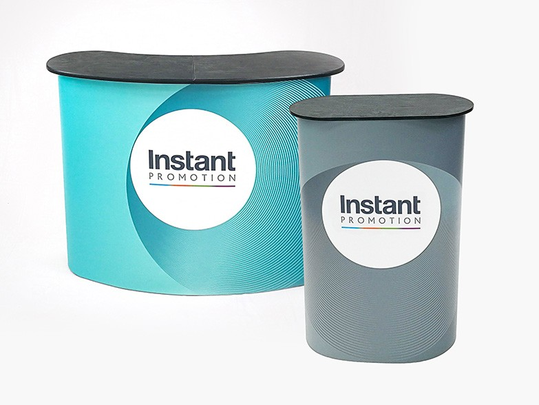 Exhibition Stand Wraps : Branded pop up counters for exhibitions and trade shows