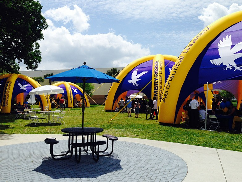 10m and 12m diameter, 6 leg XL domes, Embry Riddle