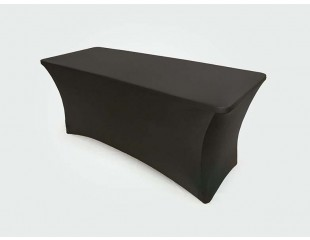 Black Stretch Table Cloth
