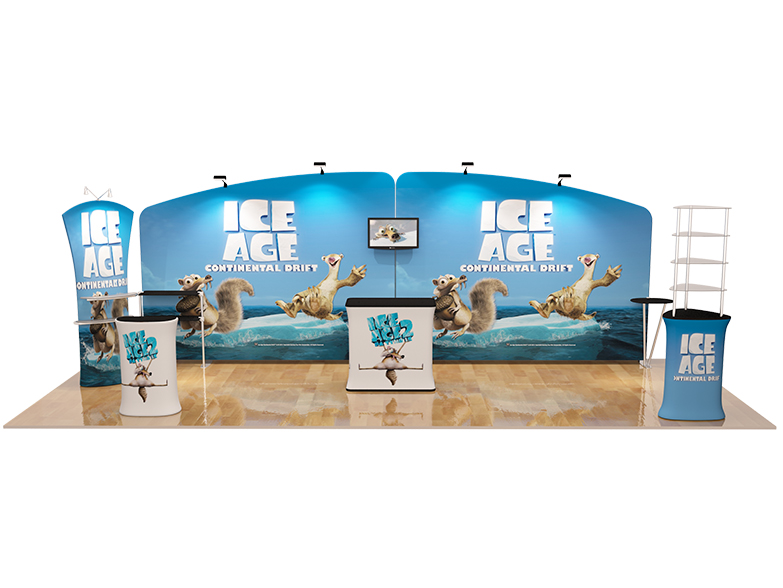 Stretch Fabric Exhibition Stands : The ultimate m stretch fabric display booth