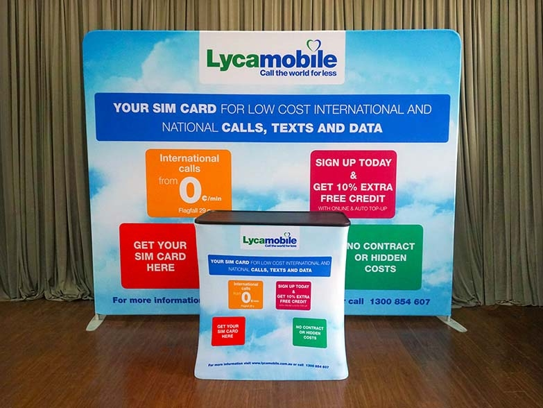 Tension Fabric Display System & Branded Podium