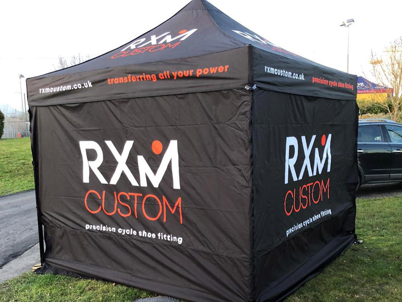 Printed gazebo at an outdoor event