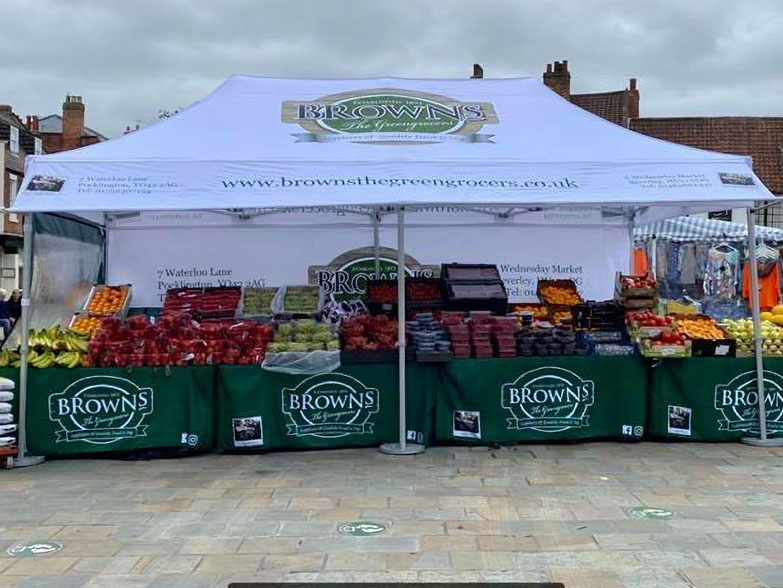 3x6m Printed Gazebo for Greengrocer