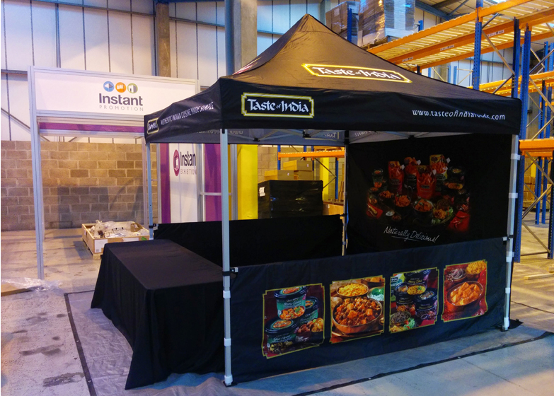 Custom Printed Gazebo - Taste of India